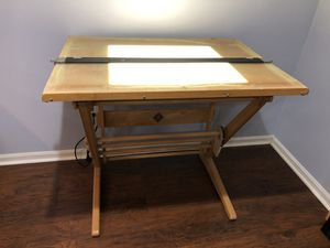 Drafting table with light. for Sale in Fairfax, VA