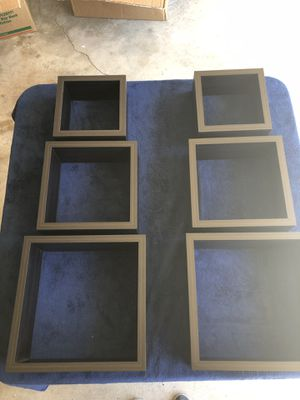 6pc Espresso Shelves - Wall Hanging for Sale in Novato, CA