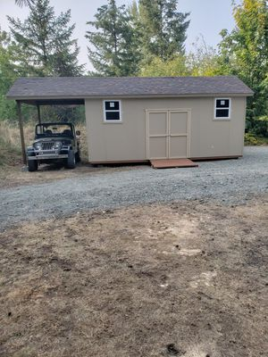 10x20 storage shed with 8ft extension for Sale in Lakewood, WA