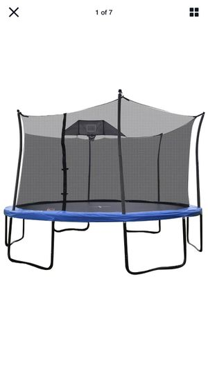 New 14 Ft Propel Trampoline w a Basketball Hoop for Sale in Temecula, CA