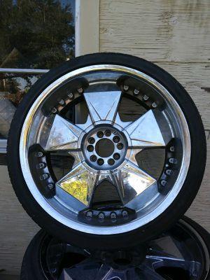 4 Chrome Rims Set Size 22 without Tires for Sale in Azalea Park, FL