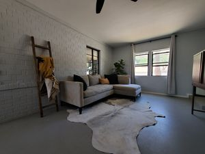 White and gray cowhide rug for Sale in Phoenix, AZ