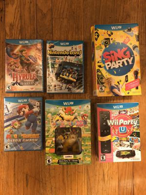 Nintendo Wii Party Lot - WiiParty, Mario Party 10, Mario Tennis, Sing Party, Nintendo Land, Hyrule Warriors for Sale in Lynnwood, WA