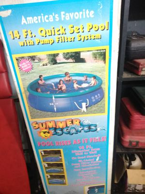 14ft pool quick set up with pump and filter for Sale in Wichita, KS