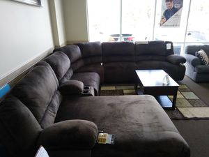 Toledo chocolate 7 piece sectional with recliners and reclining chaise comes in grey also you can build this sofa anyway you want it for Sale in Orlando, FL