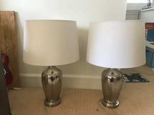 Set of Mercury Glass Lamps for Sale in Nashville, TN
