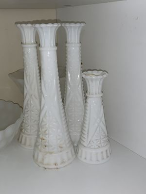 White milk glass for Sale in Buna, TX