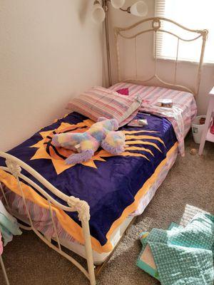Little girl bed frame, mattress, dresser,and chair for Sale in Phoenix, AZ