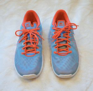 Nike Kid Flex Fury Running Tennis Shoe Blue Coral for Sale in Palm Valley, TX