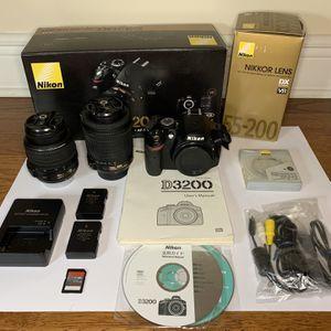 Nikon D3200 DSLR Camera Bundle for Sale in Fort Lauderdale, FL