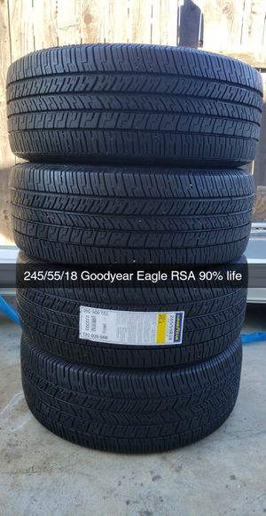 245/55/18 Goodyear Eagle RSA 90% life for Sale in Riverside, CA