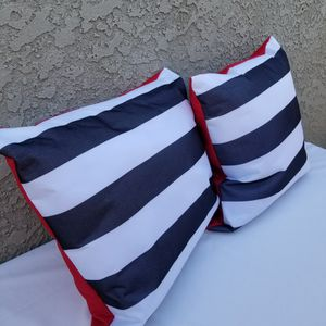 New! Custom Made Black And White Stripe Outdoor Pillows for Sale in Hawthorne, CA
