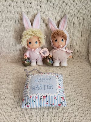 2 Like new, Precious Moments babies, Easter bunny doll & door sign. See desc. for Sale in Manassas, VA