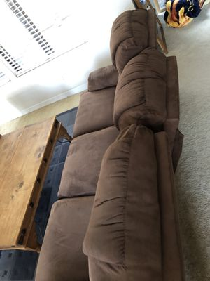 FREE (pickup ASAP) 3 seat microfiber type material. Single owner. Middle cushion slightly broke and leans back. (See 2nd pic).You can still sit there for Sale in Orange, CA