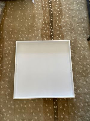 CB2 white lacquer tray for Sale in Los Angeles, CA