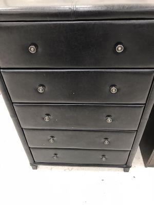 Black apolstry dresser for Sale in Houston, TX