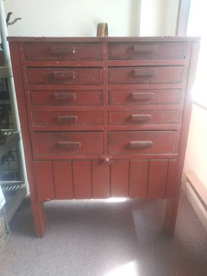 Antique multi drawer apothocary style farm cabinet for Sale in Seattle, WA
