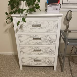 White Painted Marble Silver Tall Dressers (2) for Sale in Fort Washington, MD