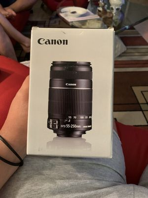 Lens Canon EF s 55-250 and len K F filter digital high definition for Sale in Miami, FL