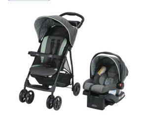 Used lite rider travel Graco stroller and car seat for Sale in Deer Park, TX