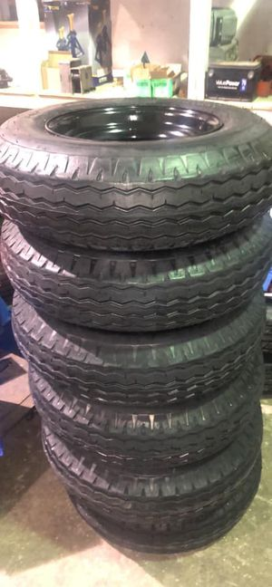Mobile home tires. New 8-14.5. 16 ply. New mobile home trailer tires. Warranty. In stock - We carry all trailer tires, trailer parts, trailer repair for Sale in Plant City, FL