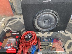 """10"""" Kicker Shallow Sub Amp and Raptor Amp Kit $160 for Sale in Los Angeles, CA"""
