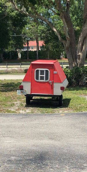 Homemade camper! So adorable fits two people *tags are good till September and I have bill of sale for Sale in Miromar Lakes, FL