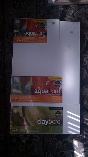 Claybord, aquabord, hardbord art supplies for Sale in Chicago, IL