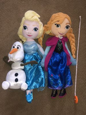 "Musical 24"" Frozen dolls with Elsa, Anna and Olaf for Sale in Hayward, CA"