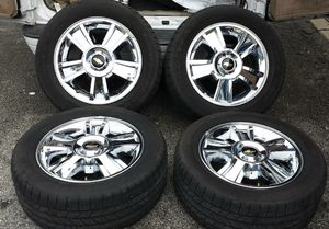 "20"" Chevy Silverado OEM stock wheels n tires $900 *no low ballers* Tahoe suburban gmc for Sale in Los Angeles, CA"