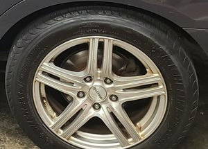 Full set of tire and Chrome rims for Sale in Boston, MA
