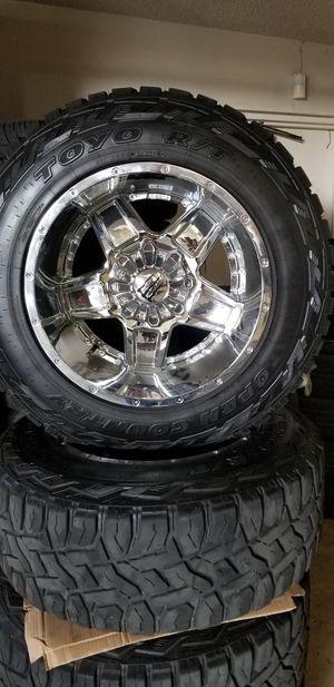 NEW TIS 20X12 + 35X12.50X20 TOYOS 8X180 CHEVY GMC 2500 3500 for Sale in Clovis, CA