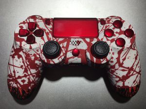 Splashing Bloody/Dooming Red Custom | Wireless Controller For PS4 Sony PlayStation 4, Pc, Mac, iOS, and android for Sale in Moreno Valley, CA