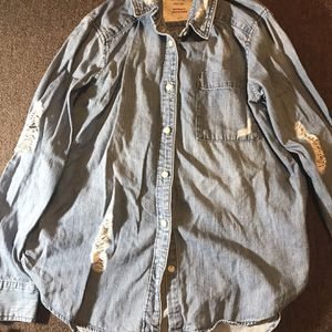 Jean Flannel Long Sleeve Shirt for Sale in New Haven, CT