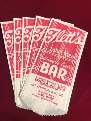 Vintage FLETT Ice Cream Bar Covers TACOMA Memorabilia for Sale in University Place, WA