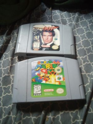 NINTENDO 64 SUPER MARIO ,64 CLEAN NINTENDO 64 007 VTG CLEAN BOTH TESTED 35.00 both for Sale in Newark, OH