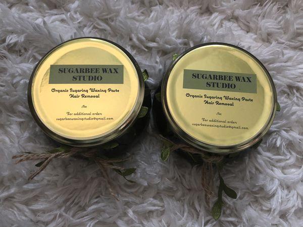 100% organic sugaring waxing paste Hair removal