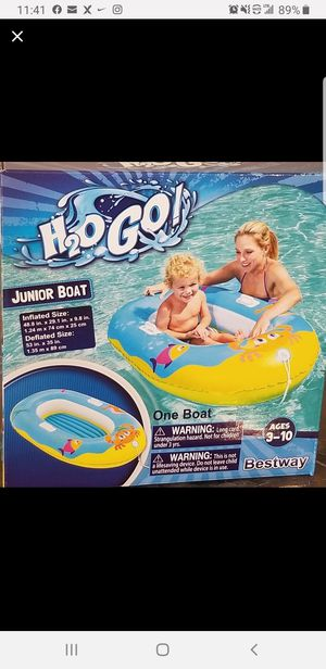 🏊♀️🏊♀️H20GO INFLATABLE JUNIOR BOAT!!🏊♀️🏊♀️ for Sale in Philadelphia, PA
