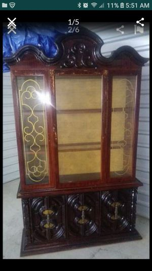 Free China cabinet. Inside glass is missing. Pick up In Pasadena. for Sale in Pasadena, TX