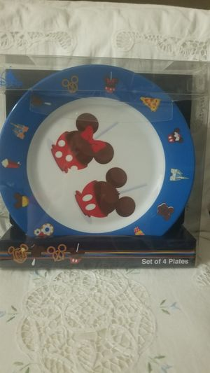 Mickey Kitchen and Set of 4 Dishes. Set of 3 Cups for Snacks with serving plate. Original Disney Collection. for Sale in Celebration, FL