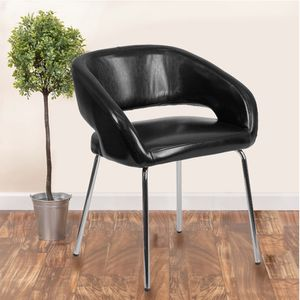 Flash Furniture Fusion Series Contemporary Black LeatherSoft Side Reception Chair for Sale in Las Vegas, NV