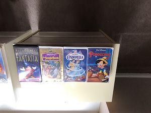 Disney original masterpiece collection VHS tapes in original boxes set of eight movies $35 for Sale in Virginia Beach, VA