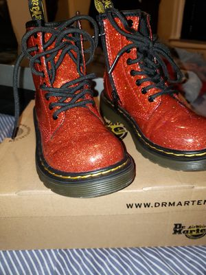 Dr Martens Red Glitter boots size 12c for Sale in Philadelphia, PA
