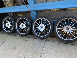Nice black rims for a Chevy Camaro size 22)$400 for Sale in Kissimmee, FL