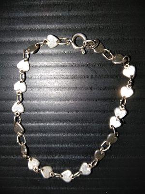 Sterling silver heart bracelet for Sale in Stockton, CA
