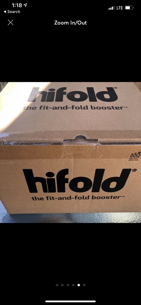 Hifold booster seat.