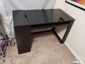 Black glass top desk for Sale in Glendale, AZ