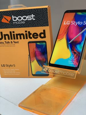 LG STYLO 5 GRATIS/FREE WHEN YOU SWITCH TOO BOOST MOBILE for Sale in Corona, CA