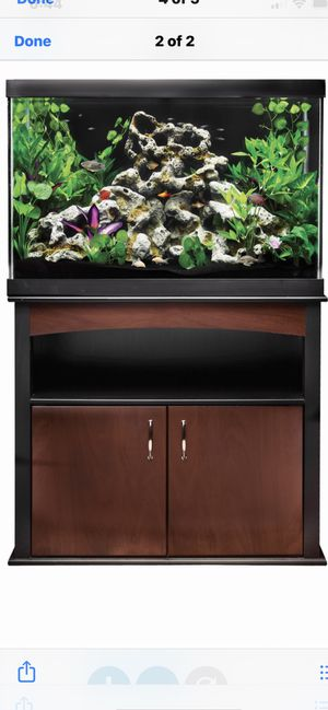 65g fish tank and stands at a set LED light is new tank for Sale in Glendale Heights, IL