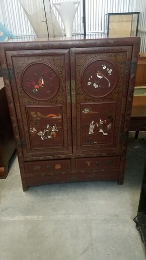 antique Oriental cabinet hand-painted for Sale in Naples, FL
